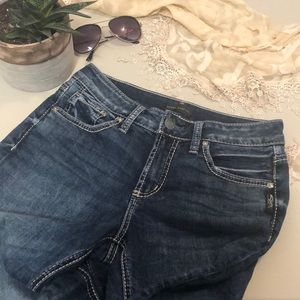 Silver Avery Skinny Ankle Jeans